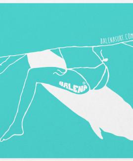 Whale tail - 40x30cm